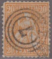 SITZENDE HELVETIA NO 32 MIT DEUTSCHEM (?) NUMMER STEMPEL - 1862-1881 Sitzende Helvetia (gezähnt)