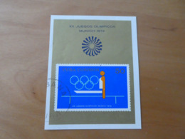 Kuba Olympia 1972 München Mi Bl. 38 Gestempelt - Summer 1972: Munich