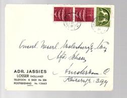 Adr. Jassies LOSSER Raderstempel 18.7.45 > Ned. MOLEST Verzek. Mij (oorlogsclaims) (FM-18) - Periodo 1891 – 1948 (Wilhelmina)