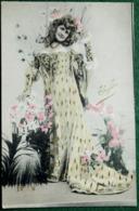Carte Postale Ancienne Photo Repeinte - ACTRICE  Thylda - Photos