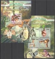 WW211 2013 NIGER FAUNA WILD ANIMALS BATS KB+BL MNH - Chauve-souris
