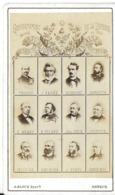 CDV PHOTO PHOTOGRAPHIE PERSONNAGES CÉLÈBRES HOMMES POLITIQUE GOUVERNEMENT  NATIONAL DE LA DÉFENSE EN 1870 PHOTO BLOCK - Persone Identificate
