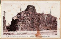 X81257 ROQUECOURBE Tarn Entrée Village Vestiges Chateau-Fort Croisement Route LACROUZETTE-BURLATS 1920s -CUMENGE ERA - Roquecourbe