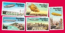 4409  --  REPUPLIQUE DU NIGER  Poste  Aérienne - 1976 N° PA 268/72  Oblitérés - Niger (1960-...)