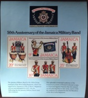 Jamaica 1977 Military Band Minisheet MNH - Jamaica (1962-...)