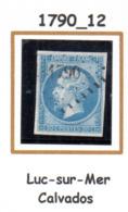 France : Petit Chiffre N° 1790 :  Luc Sur Mer  ( Calvados ) Indice 12 - Marcophilie (Timbres Détachés)