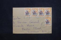 GHANA - Enveloppe De Accra Pour Londres En 1957 , Affranchissement Plaisant Surchargés - L 45458 - Ghana (1957-...)