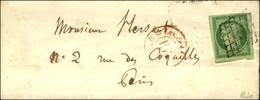 Grille / N° 2 (superbes Marges) Càd Rouge De Levée Sur Lettre Sans Texte Avec Adresse Rédigée Par H. Berlioz Pour Paris, - 1849-1850 Ceres