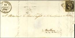Plume + Grille / N° 3 Càd T 14 LE DORAT (81) 19 JANV. 1849. - TB / SUP. - R. - 1849-1850 Ceres