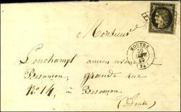 Grille / N° 3 Petit Bdf Càd T 15 MOUTHE (24) 30 JANV. 49. - TB. - 1849-1850 Ceres