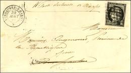 Grille / N° 3 Noir Sur Blanc Càd T 15 VANDOEUVRE-S-BARSE 9. 1849. - TB / SUP. - 1849-1850 Ceres
