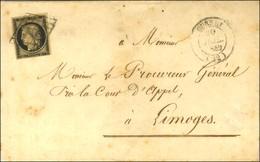 Grille / N° 3 Càd T 14 GUERET (22). 1849. - TB. - 1849-1850 Ceres