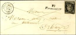 Grille / N° 3 Belles Marges Càd T 15 ORGERES (27) Cursive 27 / Terminiers. 1849. - SUP. - RR. - 1849-1850 Ceres
