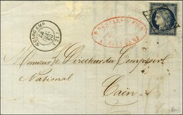 Grille / N° 4 Càd T 15 GUINGAMP (21). 1850. - TB / SUP. - 1849-1850 Ceres