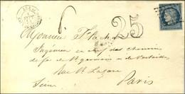 Grille / N° 4 Càd Du Bureau Temporaire (durée 3 Mois L'été) LUZ 64 / EAUX DE BARREGES Sur Lettre Insuffisamment Affranch - 1849-1850 Ceres