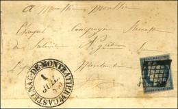 Grille / N° 4 Càd T 13 CASTELNAU-DE-MONTRATIER 44 1 JUIL. 1850. 1er Jour Du Changement De Tarif. - TB. - R. - 1849-1850 Ceres
