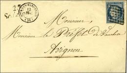 Grille / N° 4 Càd T 15 BUIS-LES-BARONNIES (25) Cursive 25 / Séderon. 1851. - TB. - 1849-1850 Ceres