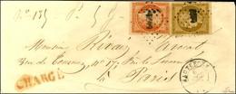 PC 1492 / N° 1 + 5 Filet Effleuré Et Non Touché Càd T 15 HAUTEFORT (23) Sur Lettre Chargée Pour Paris. 1852. - TB. - R. - 1849-1850 Ceres