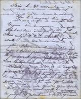 Lettre Autographe D'Alfred Roseleur, Inventeur Des Papillons Des Gravilliers, Adressée à Sa Femme Le 23 Novembre 1870, P - Storia Postale