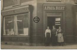 PUTEAUX. CARTE PHOTO. Devanture Du Teinturier MAUPIN Avenue Du Centenaire. - Puteaux