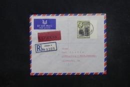 GHANA - Enveloppe En Recommandé De Accra Pour L 'Allemagne En 1959 Par Avion, Affranchissement Plaisant - L 45462 - Ghana (1957-...)