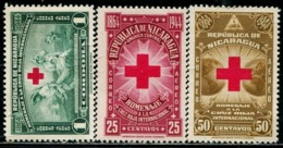 DK1009 Nicaragua 1944 Red Cross First Aid, Etc. 3V Engraving Version MNH - Nicaragua