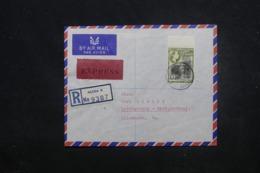 GHANA - Enveloppe En Recommandé De Accra Pour L 'Allemagne En 1959 Par Avion, Affranchissement Plaisant - L 45463 - Ghana (1957-...)