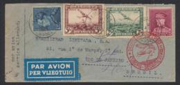 PA3 Et 4 + N°324, 430 Sur Lettre Par Avion De Bruxelles (1936) Vers Rio De Janeiro (Brésil) / Deutsch Luftpost - Airmail