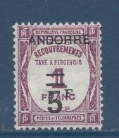 Andorre Français - Taxe - Yt N° 15 - Neuf Avec Charnière - 1931 Et 1932 - Andorre Français