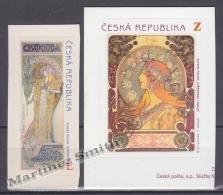 Czech Republic - Tcheque 2010 Yvert 563/ 64, Personality, Alfons Mucha -  MNH - Tschechische Republik