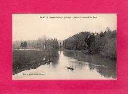 70 Haute-Saône, TRAVES, Vue Sur La Saône En Amont Du Pont, Animée, Barque, (C. Jeunet), état Neuf - France