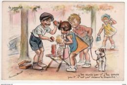 Illustrateur Germaine Bouret  Le Camelot. J'les Vends Pas 10F, J'les Vends Pas 3F, C'est Par Dessus Le Marché!...2 Scans - Bouret, Germaine