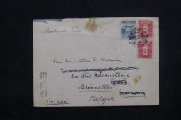 JAPON - Enveloppe De La Légation De Norvège Pour Oslo Via Les U.S.A. Et Redirigé Vers Bruxelles En 1939 - L 45472 - 1926-89 Empereur Hirohito (Ere Showa)