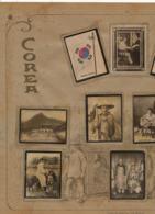 Set Of 10 Pictures Korea Real Photo Hand Colored .Art Nouveau. Palanquin. Advert For Susini Cigars Cuba . Circa 1910 - Corea Del Sud
