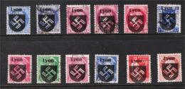 Surcharge Lyon & Swastika Sur Timbres De France (overprint) Faux - Forgery - Francia