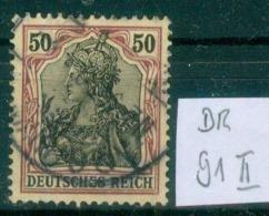 DR 1915  MiNr. 91 II     O / Used  (L815) - Alemania