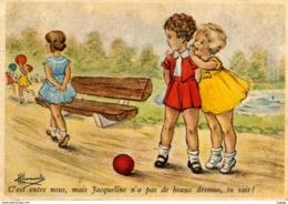 Illustrateur HOMUALK  C'est Entre Nous, Mais Jacqueline N'a Pas De Beaux Dessous, Tu Sais !  2 Scans - Homualk