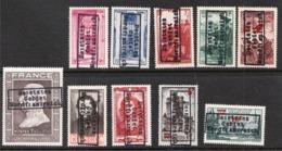 Surcharge 'Bestztes' Sur Timbres De France (overprint) Faux MNH OG ** - Forgery - Francia
