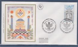 = Le Droit Humain Ordre Maçonnique Mixte International Enveloppe 1er Jour Paris 3.4.93 N°2796 - 1990-1999
