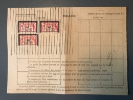 France, Merson M, Fiscaux Maladie, Sur Feuillet Trimestriel - (B1589) - Fiscali