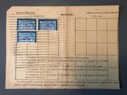 France, Merson M, Fiscaux Maladie, Sur Feuillet Trimestriel - (B1590) - Fiscali