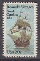USA 1984 Roanoke Voyages / North Carolina 1v ** Mnh (45004A) - Ongebruikt