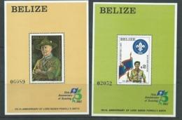 Belize 1982 Boy Scout / Baden Powell Set Of 2 Miniature Sheets MNH - Belize (1973-...)