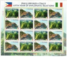 FILIPPINE 2013 - 65° RELAZIONI DIPLOMATICHE FILIPPINE/ITALIA - MINIFOGLIO - MNH ** - Filippine