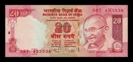 India 20 Rupees Gandhi 2010 Pick 96k Letter E SC UNC - India
