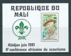 Mali 1981 Boy Scout Conference Miniature Sheet MNH - Mali (1959-...)