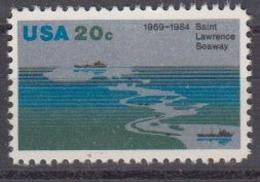 USA 1984 Saint Lawrence Seaway  1v ** Mnh (45004I) - Nuovi