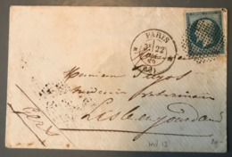France N°14 Sur Lettre Oblitération - Cercle De Point - (B1591) - Marcophilie (Lettres)