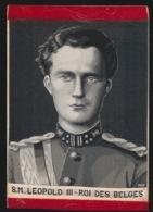 BORDUUR  ZIJDE SILK   S.M. LEOPOLD III - ROI DES BELGES - Brodées