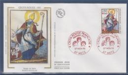 = Croix Rouge 1993 L'Imagerie De Metz Enveloppe 1er Jour Metz 27.11.93 N°2853 Saint Nicolas - 1990-1999